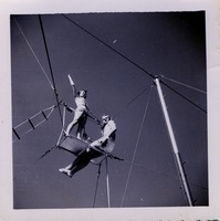 Man and Woman on a Trapeze Platform