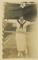 Gladys Martin on Tennis Court