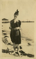 Gladys Martin at the Beach