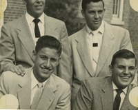 Four Young Men in Suit and Tie