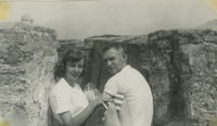 Bill Smith and Sarah Monroe at the St. Augustine Fort