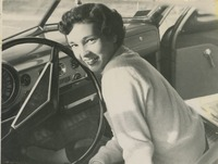 Diane Pasquirello Posing in a Car