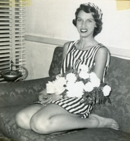 Girl Posing With Flowers for Photo Assignment