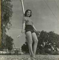 Girl Practicing for the 1955 Circus