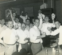Boys Cheering at a Fraternity Party
