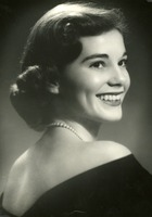 Jeanie Kitchens Posing in a Portrait Photograph in 1955