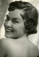 Carol Rogers Looking Over Her Shoulder in Portrait Photograph