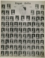 Mary Petway in Kappa Delta, 1962-1963 class photo