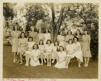 Elizabeth (Bette) Evans in Kappa Delta Pledge Class Group Photo