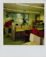 Library Staff Setting-Up New Cubicals
