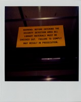 Library Warning Sign
