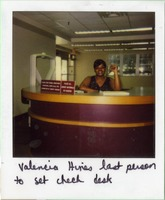 Valencia Hines, Last Person To Sit Check Desk