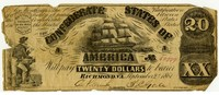 Twenty Dollar Note, 1861