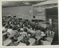 Florida State University chemistry students in lecture hall class