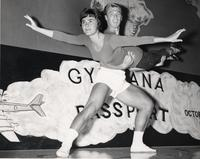 Two Gymkana students performing at show. 1963