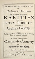 Musaeum Regalis Societatis, or A catalogue & description of the natural and artificial rarities belonging to the Royal Society and preserved at Gresham Colledge (Page 8)