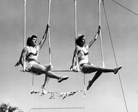 Two on a ladder trapeze