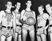 Basketball varsity team. 1947-48