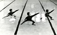 Three Tarpon Club members performing in pool