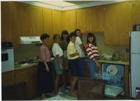 Students in Home Management class kitchen