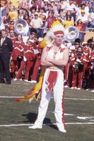 Drum major with whistle