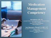 Competency in Medication Management - Slides