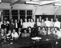 Florida State University library school at Christmas. 1949