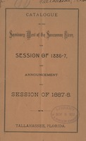 Catalogue of the Seminary West of the Suwannee River for Session 1886-7 and announcements for Session of 1887-8