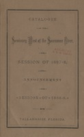 Catalogue of the Seminary West of the Suwannee River for Session 1887-8 and announcements for Session of 1888-9