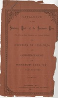 Catalogue of the Seminary West of the Suwannee River for the Session of 1890-91 and announcements for Session of 1891-92