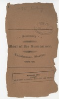 Catalogue of the Seminary West of the Suwannee River for the Session of 1895-96 and announcement for Session of 1896-97