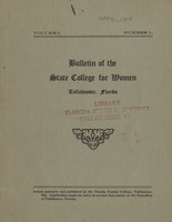 Bulletin of the State College for Women