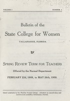 Bulletin of the State College for Women: Spring Review Term for Teachers