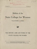 Bulletin of the State College for Women: The History, Aims and Work of the State College for Women
