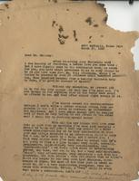 Letter to Dr. Bellamy