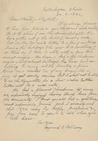 Handwritten letter from Dr. Bellamy