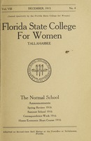 The Normal School Announcements: Spring Review 1916, Summer School 1916, Correspondence Work 1916, Home Economic Short Course 1916