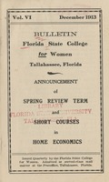 Bulletin Florida State College for Women: Announcement of Spring Review Term and Short Courses in Home Economics