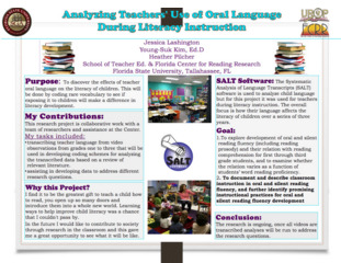 Analyzing Teachers' Use of Oral Language During Literacy Instruction