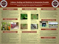 Culture, Healing and Medicine in Amazonian Ecuador