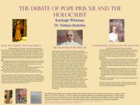 Debate of Pope Pius XII's Silence in the Holocaust
