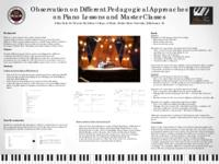 Observation on the Various Pedagogical Approaches in Piano Lessons and          Masterclasses