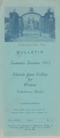 Bulletin Summer Session 1943, Florida State College for Women