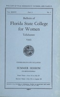 Bulletin of Florida State College for Women: Summer Session, Under-Graduate Bulletin