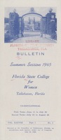 Bulletin Summer Session 1945, Florida State College for Women