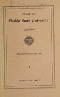 Bulletin Florida State University: Regular Session 1947-48