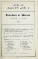 Florida State University Schedule of Classes: Winter Quarter 1950