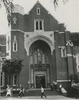 Dodd Hall and students