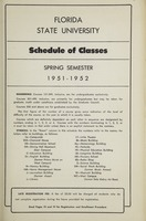 Florida State University Schedule of Classes - Spring Semester