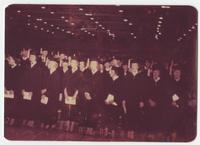 Graduating class of 1957 nursing students